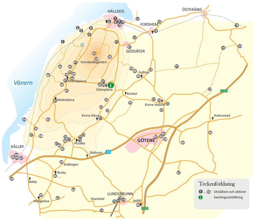 Vårrundan karta 2016